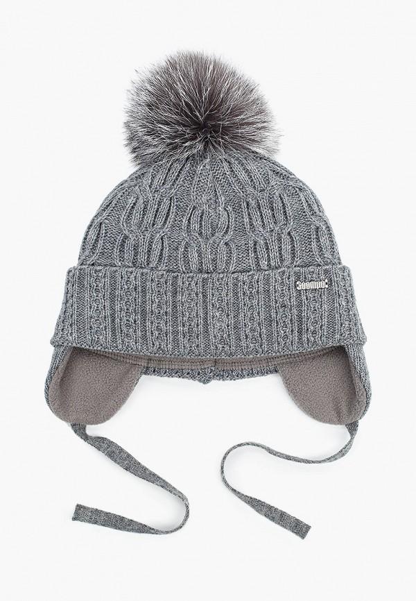 шапка coompol для девочки, серая