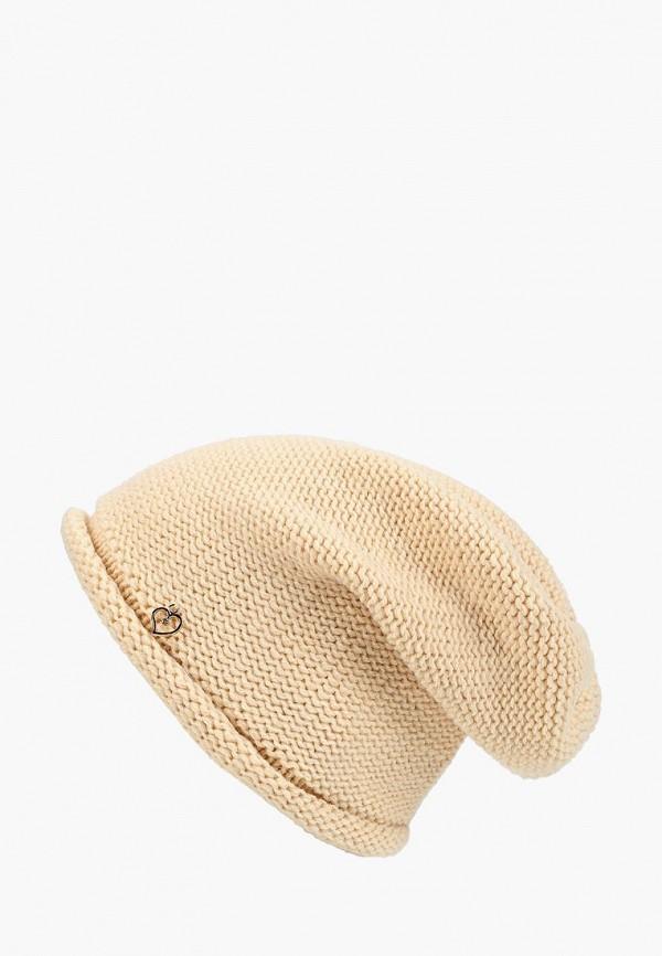 женская шапка coompol, бежевая