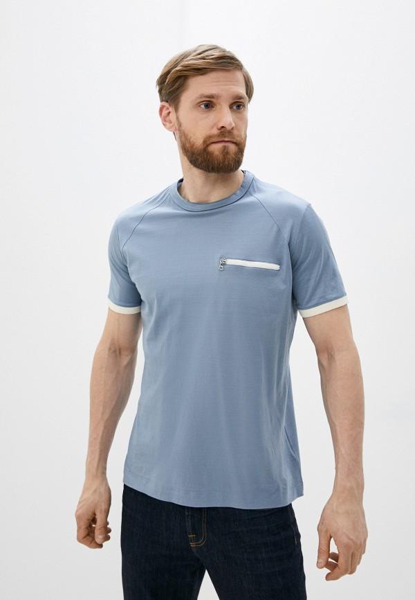 мужская футболка cortigiani, голубая
