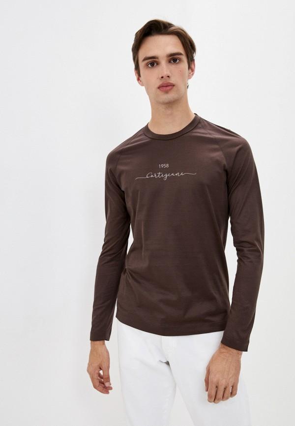 мужской лонгслив cortigiani, коричневый