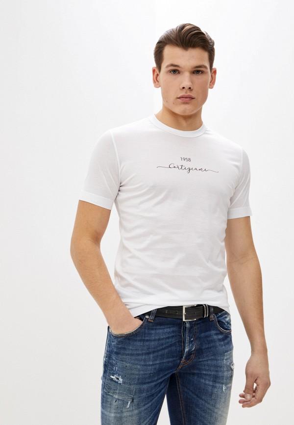 мужская футболка cortigiani, белая