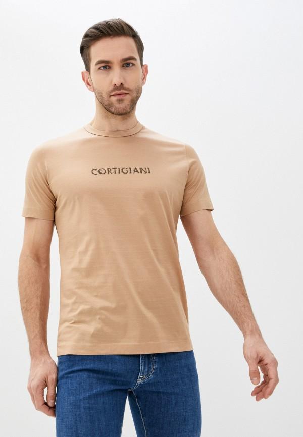 мужская футболка cortigiani, бежевая
