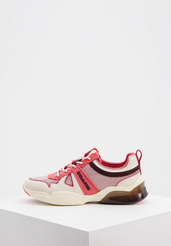 женские кроссовки coach, розовые