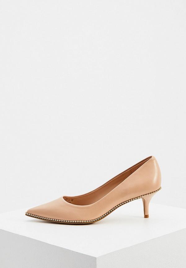 женские туфли coach, бежевые