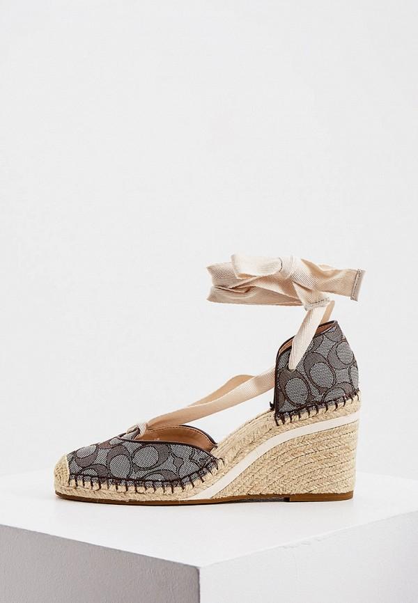 женские туфли coach, коричневые