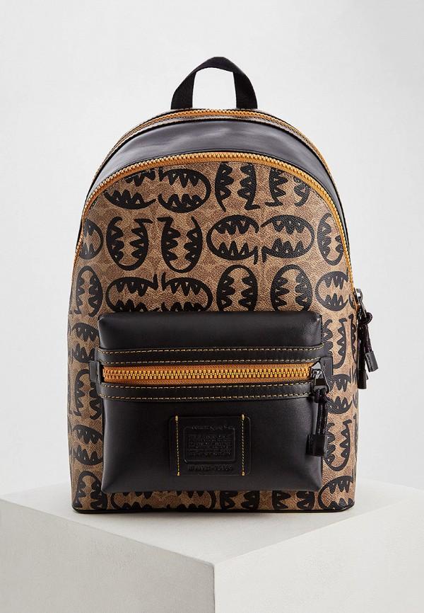 мужской рюкзак coach, коричневый