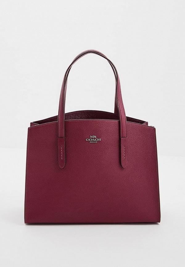 женская сумка coach, фиолетовая
