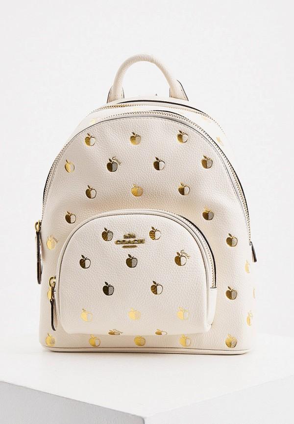 женский рюкзак coach, белый