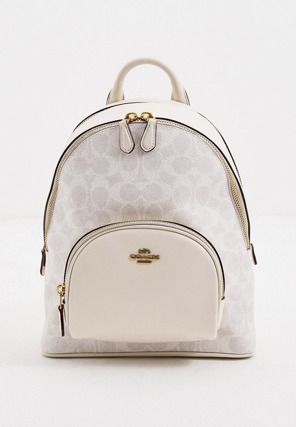 женский рюкзак coach, бежевый