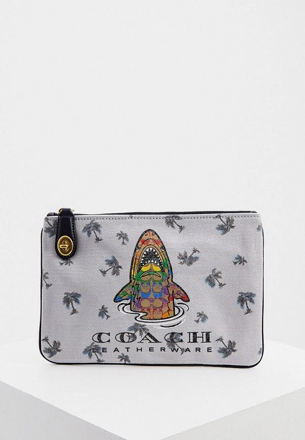 женский кошелёк coach, серый