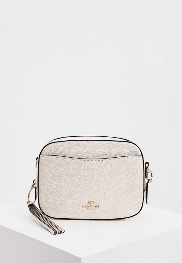 женская сумка coach, белая