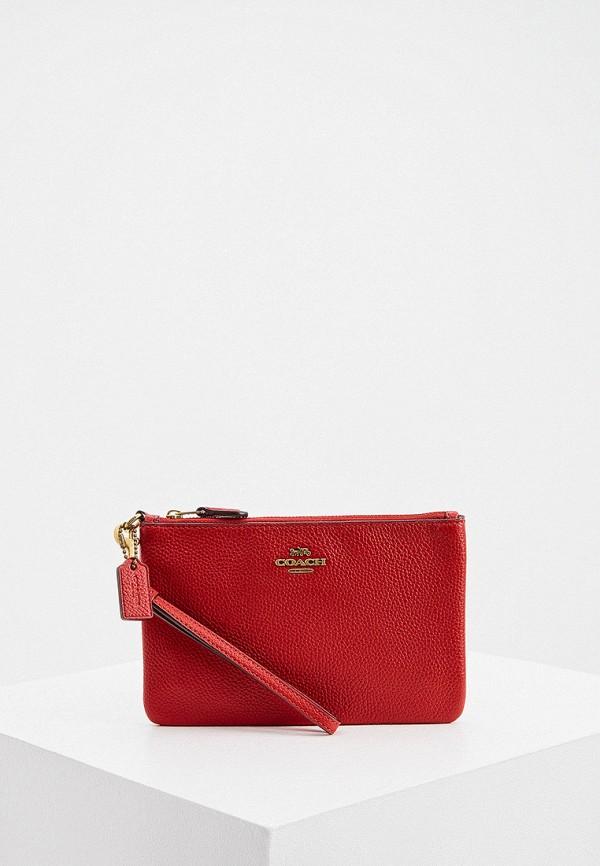 женский кошелёк coach, красный