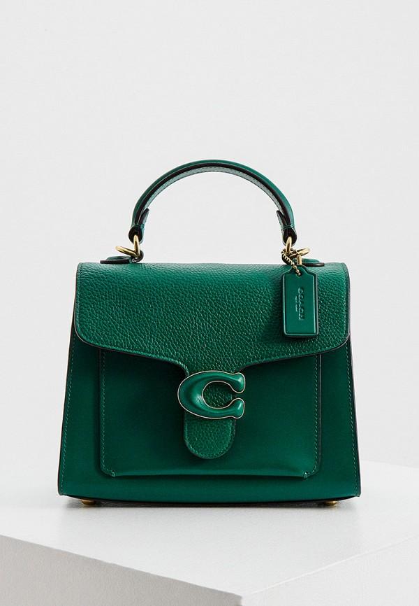 женская сумка coach, зеленая