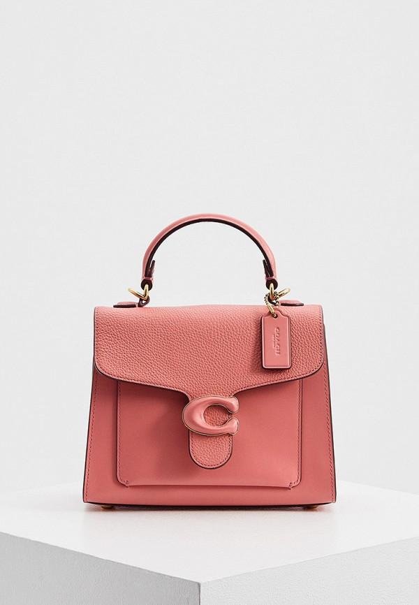 женская сумка coach, розовая