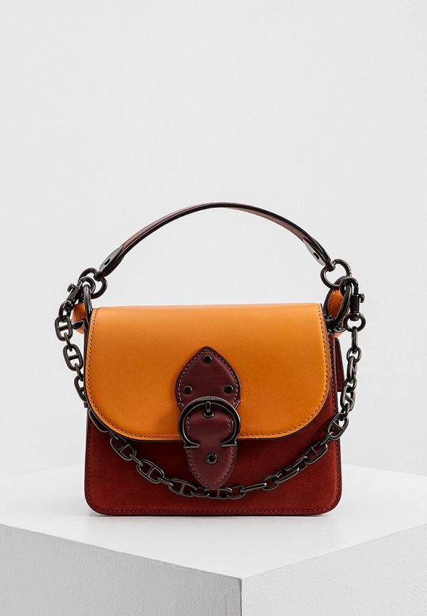 женская сумка coach, красная