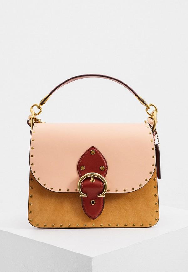 женская сумка coach, коричневая