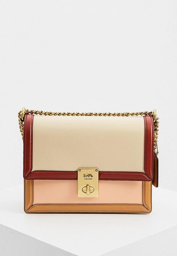 женская сумка coach, разноцветная