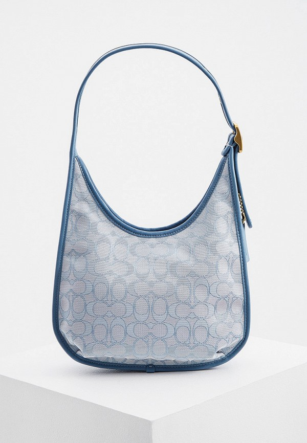 женская сумка coach, голубая