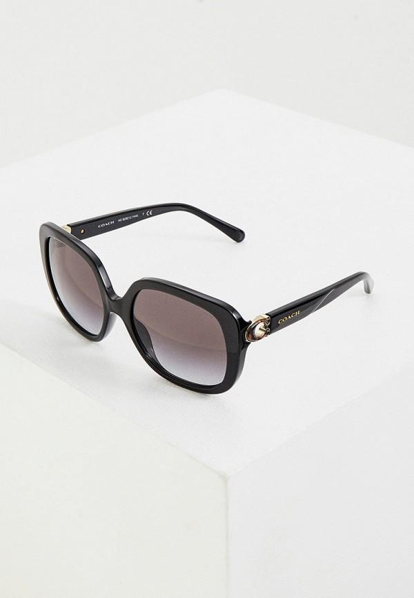 женские солнцезащитные очки coach, черные