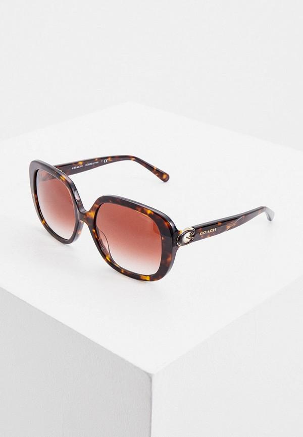 женские солнцезащитные очки coach, коричневые