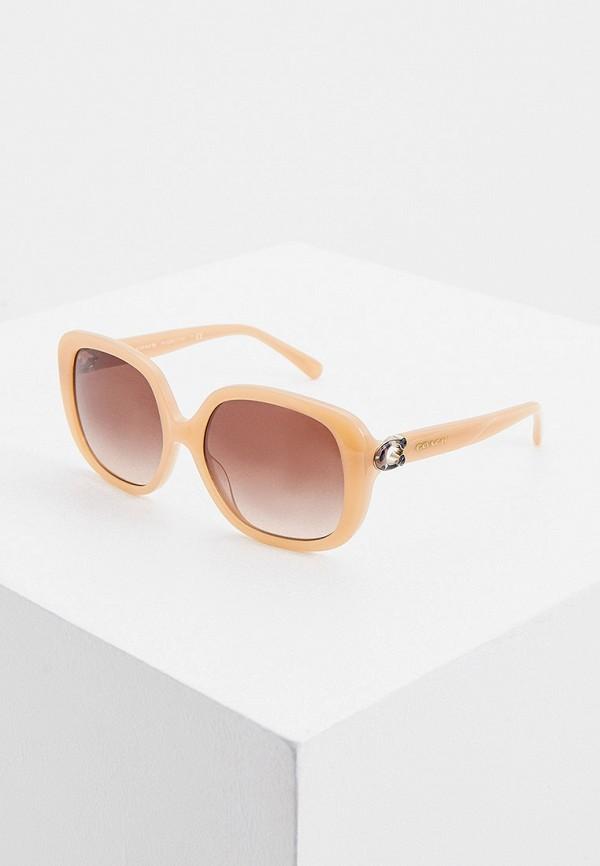 женские солнцезащитные очки coach, бежевые
