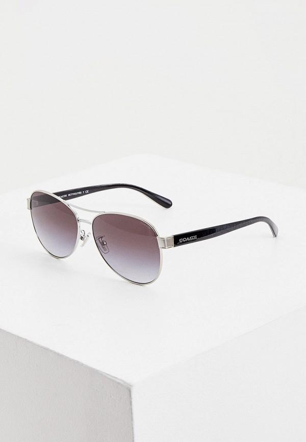 женские солнцезащитные очки coach, серебряные