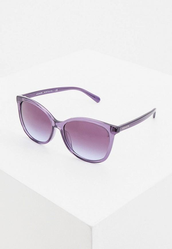 женские солнцезащитные очки coach, фиолетовые