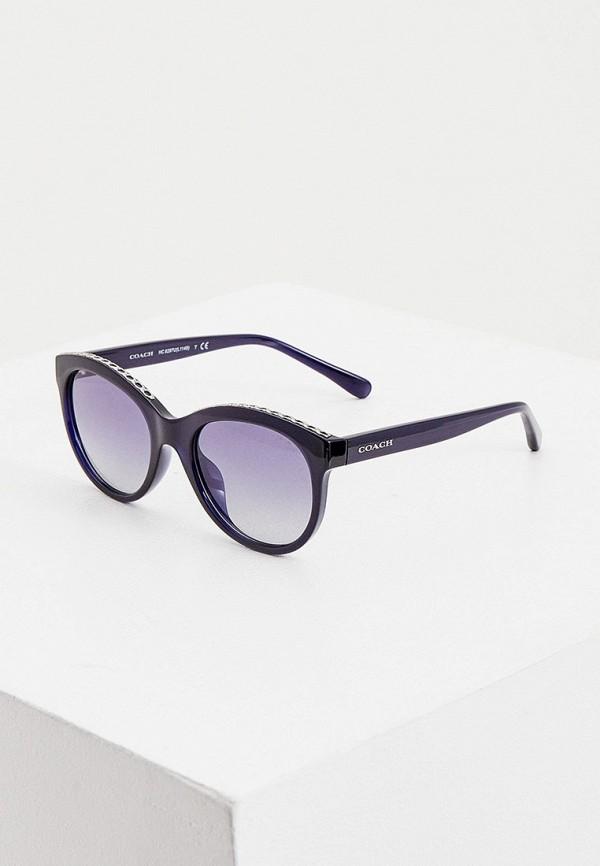 женские солнцезащитные очки coach, синие
