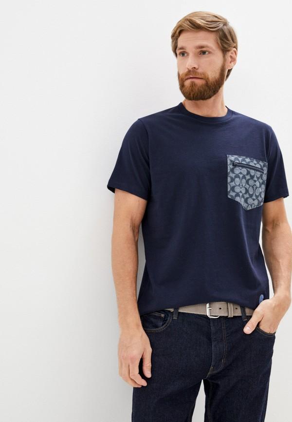 мужская футболка coach, синяя