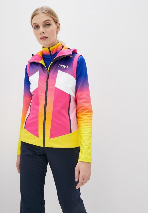 женский жилет colmar, разноцветный