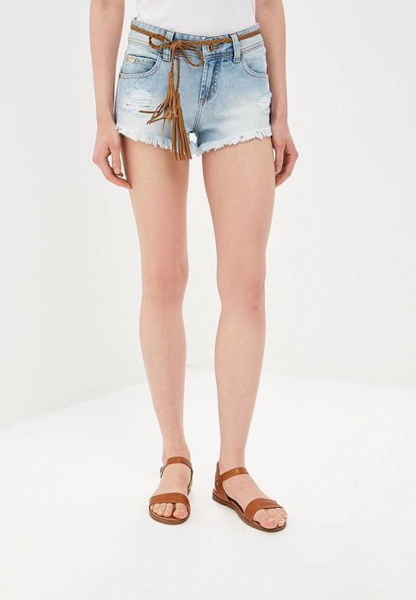женские шорты colcci, голубые