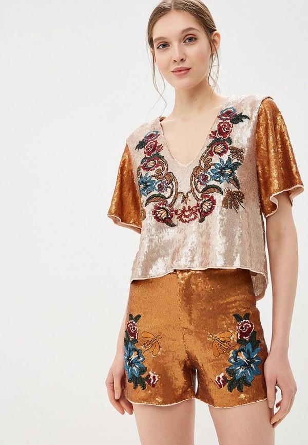 женская блузка colcci, золотая