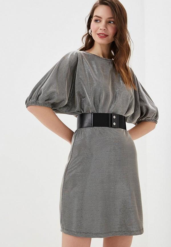 женское вечерние платье colcci, серебряное