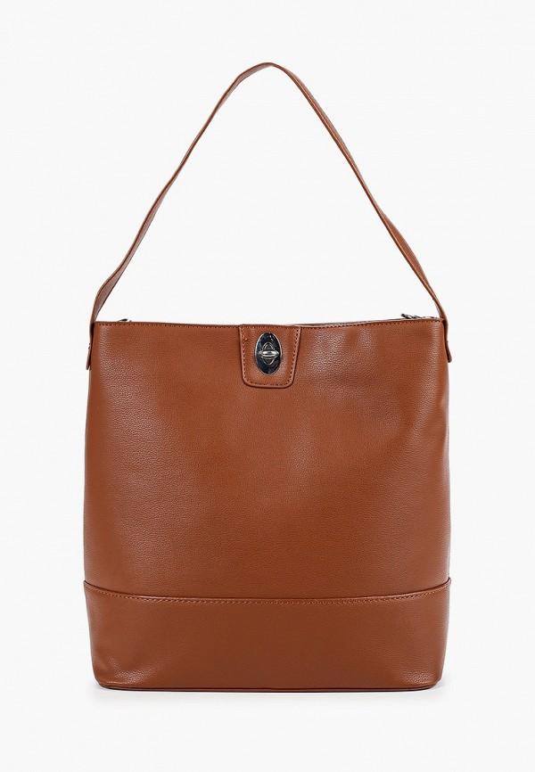 женская сумка code, коричневая