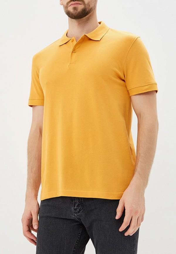 Поло  оранжевый цвета