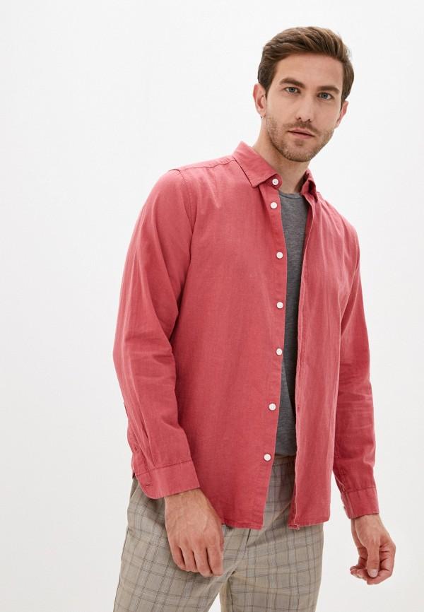 мужская рубашка с длинным рукавом code, розовая