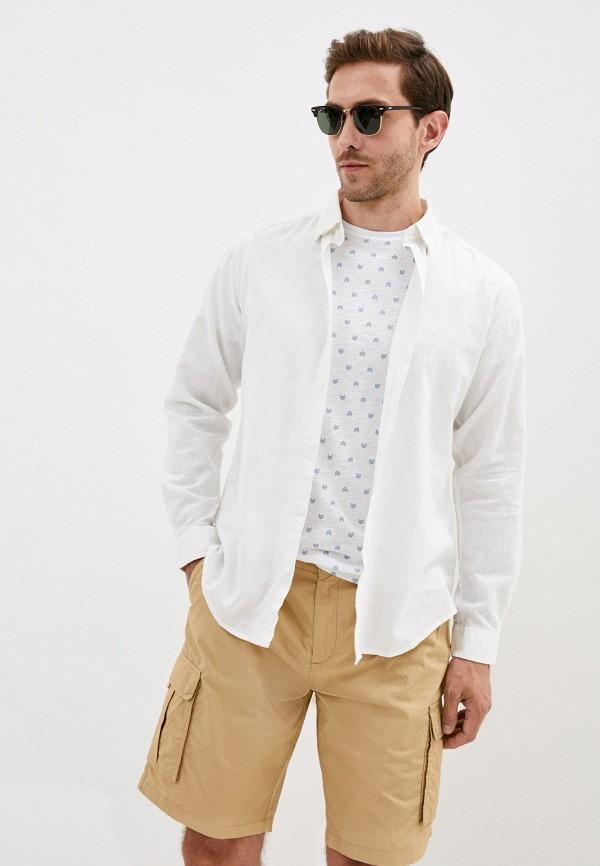 мужская рубашка с длинным рукавом code, белая
