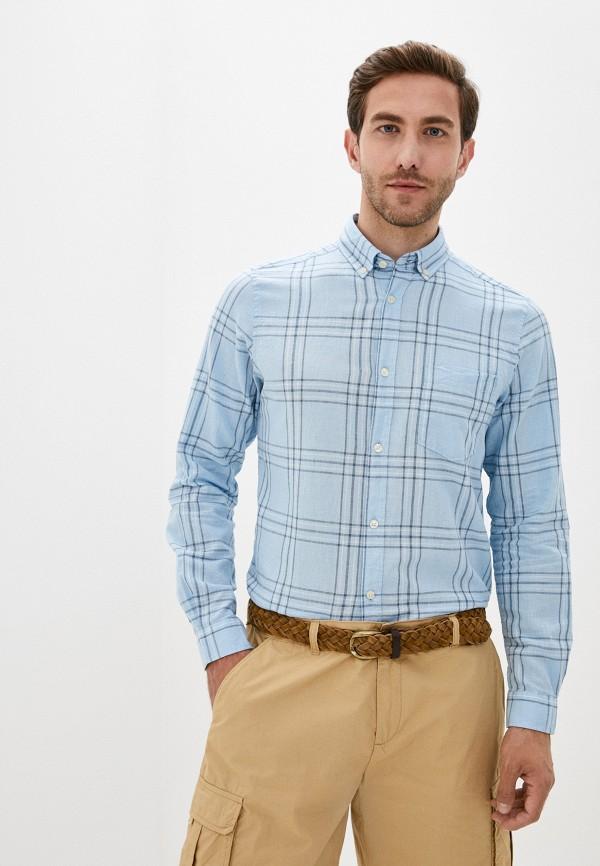 мужская рубашка с длинным рукавом code, голубая