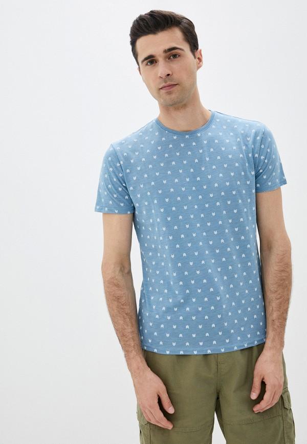 мужская футболка с коротким рукавом code, бирюзовая