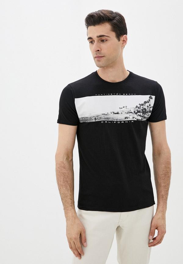 мужская футболка с коротким рукавом code, черная