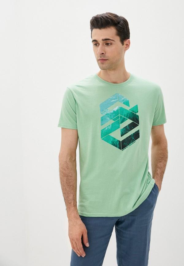 мужская футболка с коротким рукавом code, зеленая