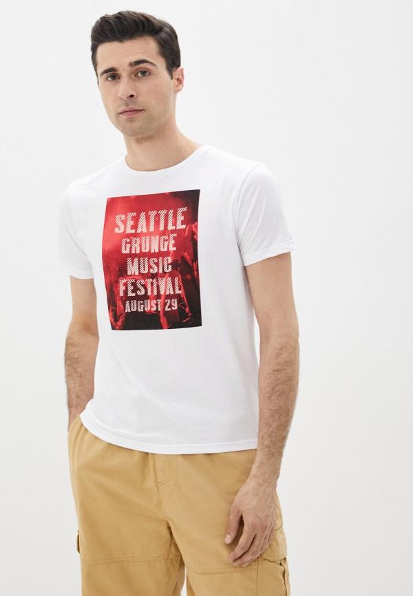 мужская футболка с коротким рукавом code, белая