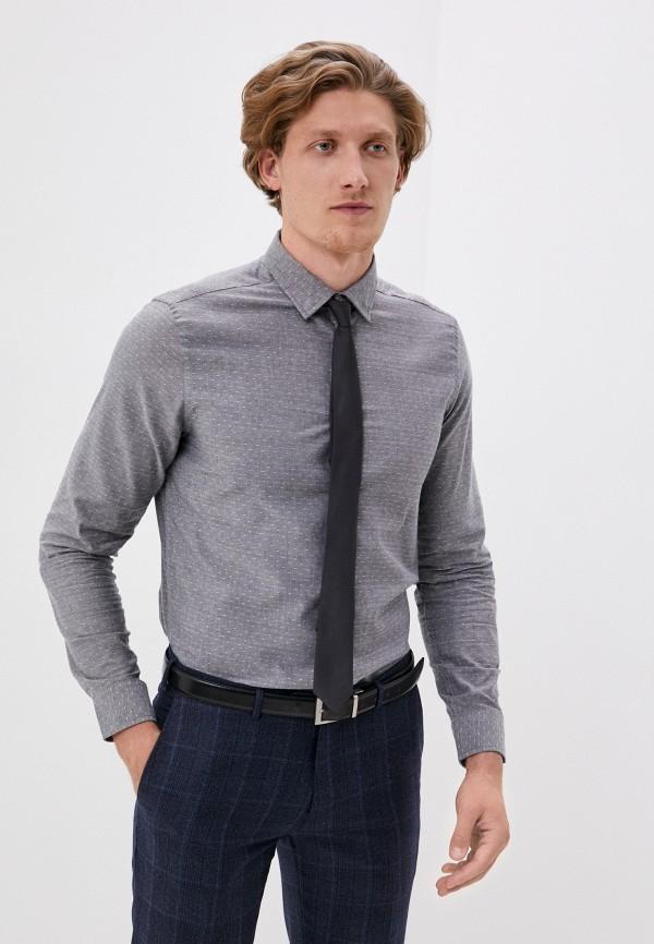 мужская рубашка с длинным рукавом code, серая