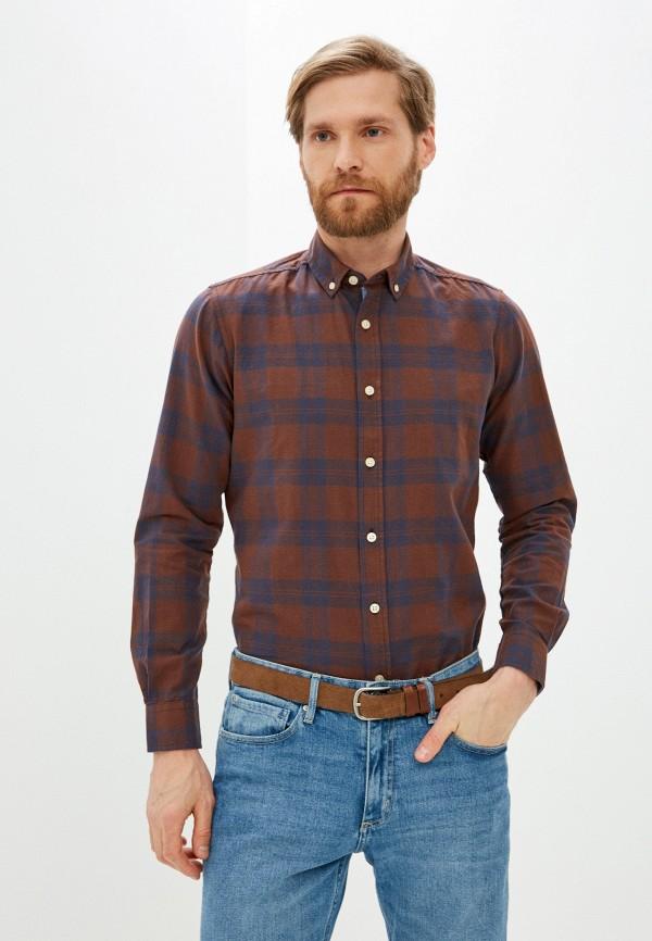 мужская рубашка с длинным рукавом code, коричневая