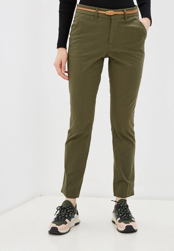 женские повседневные брюки code, зеленые