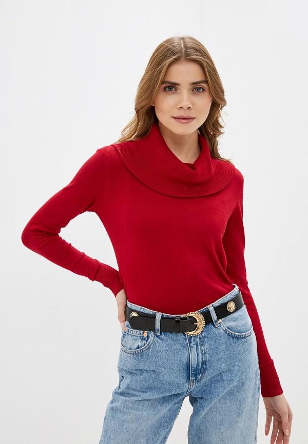 женский свитер code, красный