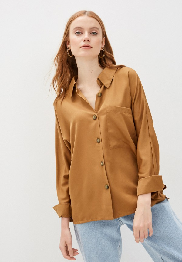 женская блузка code, коричневая