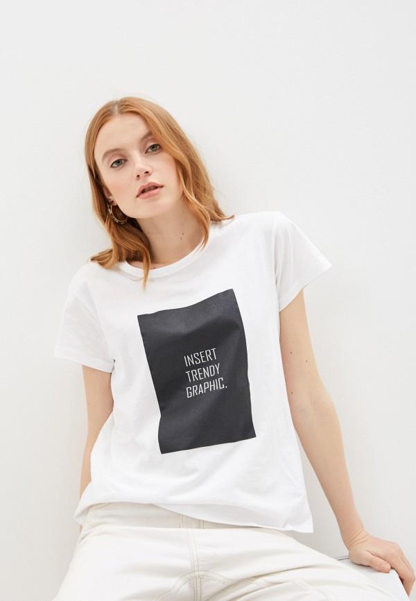 женская футболка code, белая