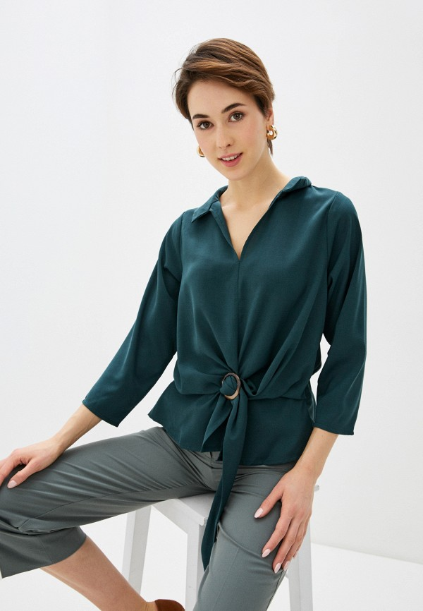 женская блузка code, зеленая