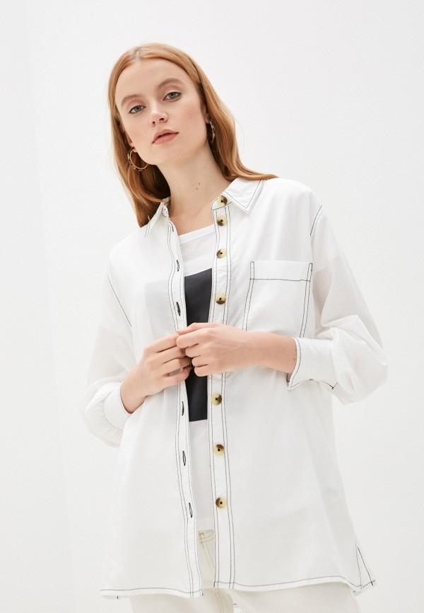 женская рубашка с длинным рукавом code, белая